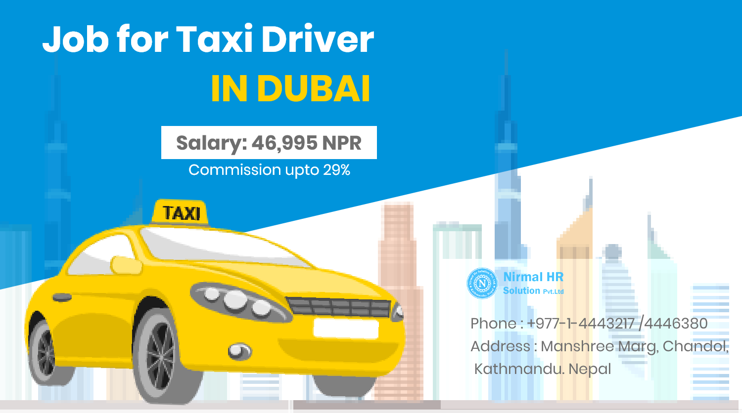 Taxi Driver for UAE.